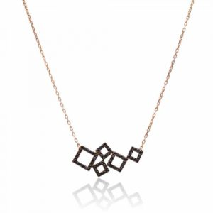 Floating Squares Necklace